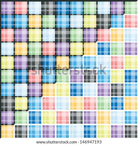 set of colorful striped background - stock vector