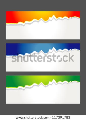 Set of Colorful Vector Sample banner set for various options - stock vector