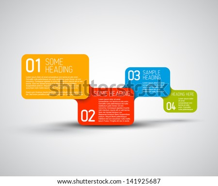 Set of colorful Vector steps / options template - stock vector