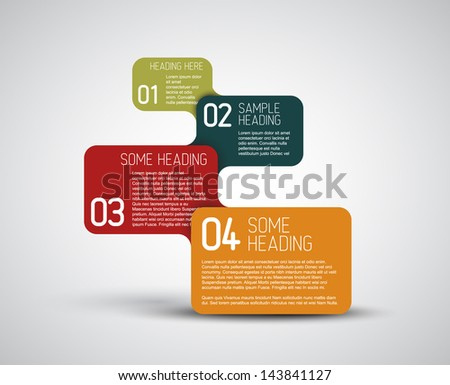Set of colorful Vector steps / options template with retro colors - stock vector