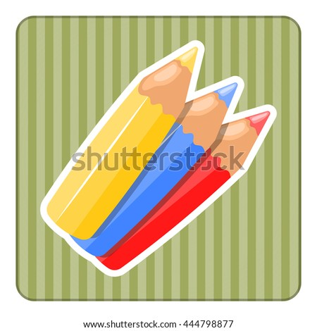 Set of colour pencils for drawing. Eps10 vector illustration. - stock vector