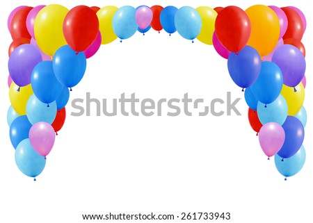 Set of colourful balloons. Isolated on white - stock vector
