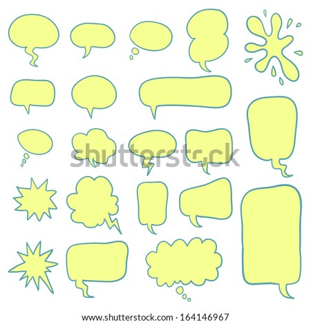 Set of comic speech bubbles. Vector image. - stock vector