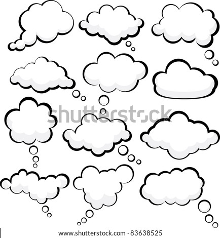 Set of comic style speech bubbles. Vector illustration. - stock vector