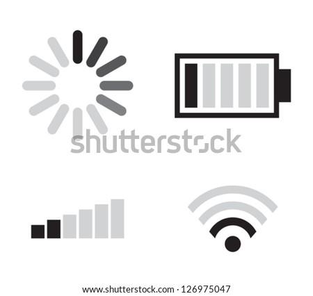 Set of connection icons - stock vector