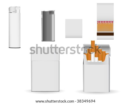 Set of corporate or business packaging objects for your own designs. - stock vector