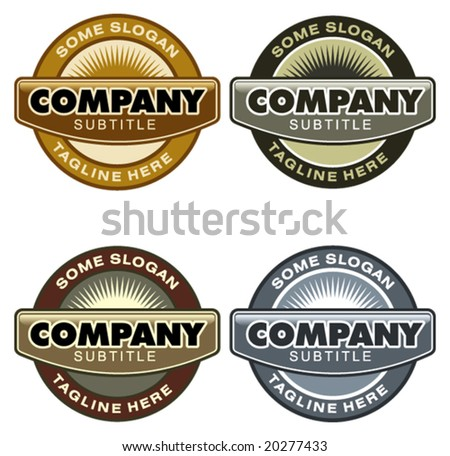 Set of corporate vector logo templates. Just place your own brand name. - stock vector