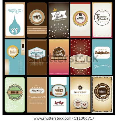 set of creative name card design - stock vector