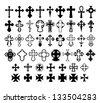 Set of crosses. Vector Eps 10. - stock vector