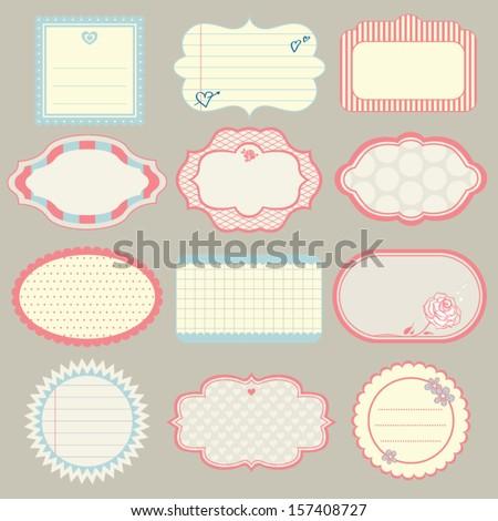 set of cute frames - stock vector