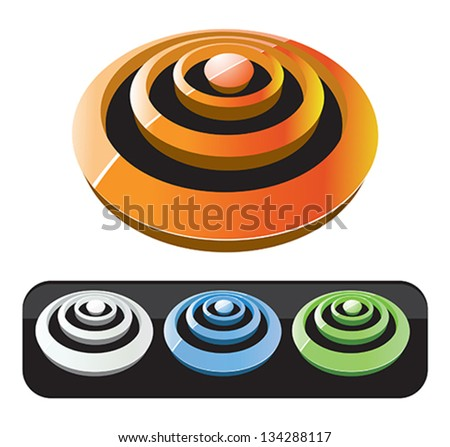 Set of 3d shapes. - stock vector
