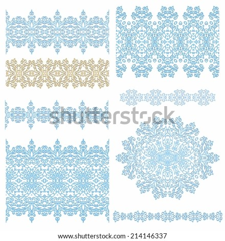 Set of decorative elements for Christmas decoration - stock vector