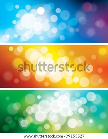 Set of defocused background, EPS10 - stock vector