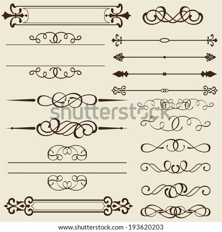 Set of design elements is on white - stock vector