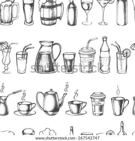 Isometric Coffee Cup Sketch Templates