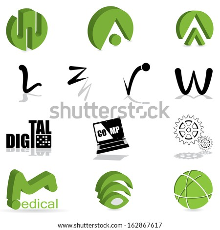 Set of different kind of icon  - stock vector