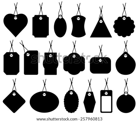 Set of different price tags isolated on white - stock vector