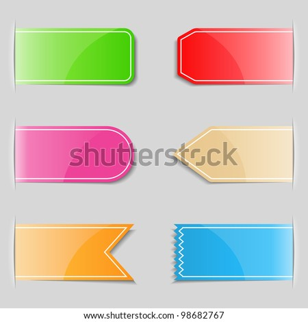Set of different tabs, vector eps10 illustration - stock vector