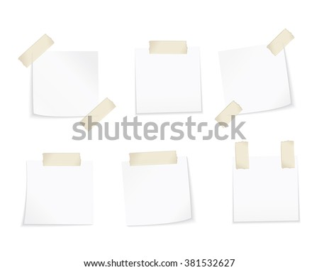 Set of different vector note papers.  - stock vector