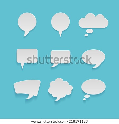 Set of different vector speech bubbles - stock vector