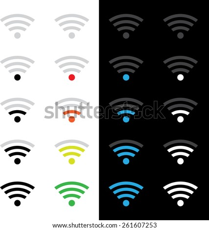 Set of different wireless technology icons. eps10 - stock vector