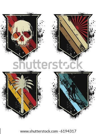 set of differents shields - stock vector