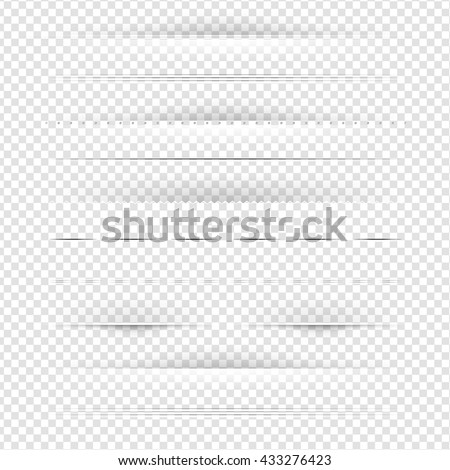 Set Of Dividers Set Isolated on Transparent Background, With Gradient Mesh, Vector Illustration - stock vector