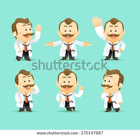 Set of doctor - stock vector