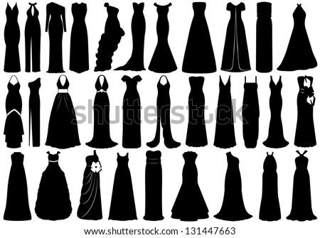 Kleurplaat Jurkje Wit Dress Silhouette Stock Photos Images Amp Pictures