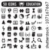set of education science icons - vector illustration - stock vector