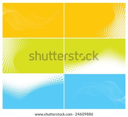 set of elegant business cards, vector illustration - stock vector