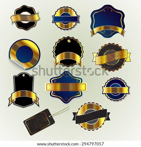 set of element for design badges - stock vector