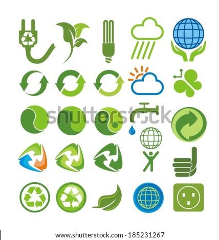 set of environmental vector - stock vector