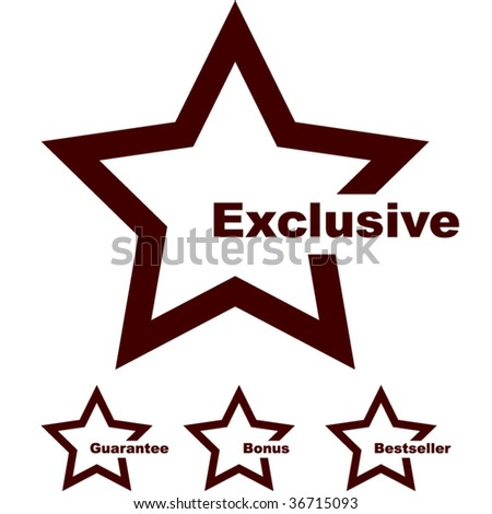 Set of exclusive and quality guaranteed stamp. - stock vector