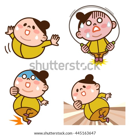Set of exercise for women - stock vector