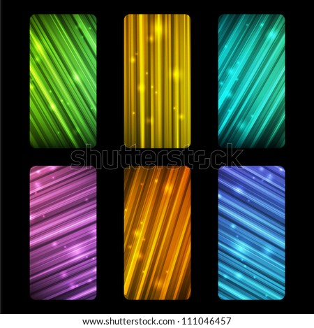 Set of festive shiny banners - stock vector