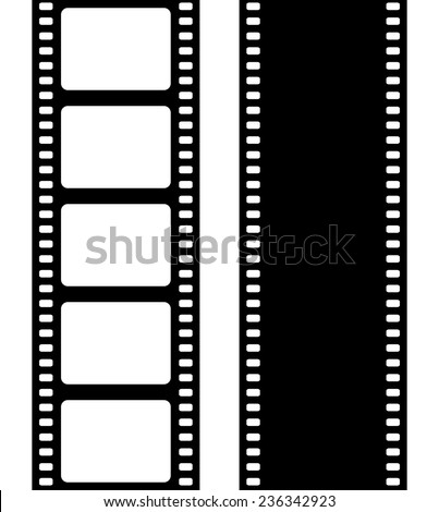 Set of film frame, vector illustration - stock vector