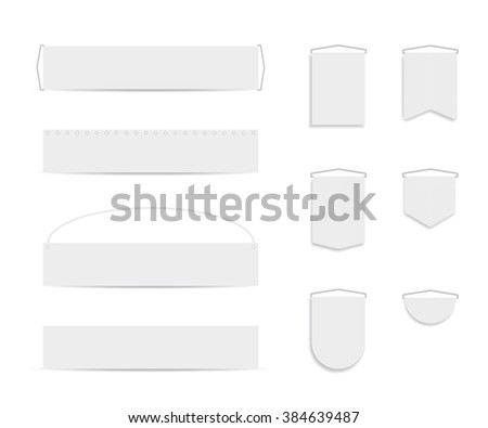 Set of flag banners - stock vector