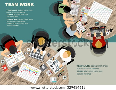 Set of flat design illustration concepts for business, finance, consulting, management, team work, analysis, strategy and planning. Concepts for web banner and printed materials. - stock vector