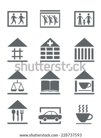 set of flat icons for your info-graphic - stock vector