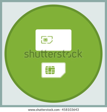 Set of flat sim card and case illustration. - stock vector