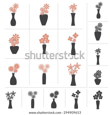 Vector Floral Vases Stock Photos Images Pictures
