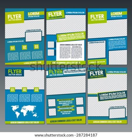 Set of Flyer, Brochure. Design Templates. - stock vector