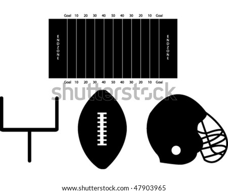 Set of Football Silhouettes - stock vector