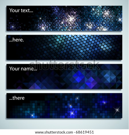Set of four labels with space for Your text - stock vector