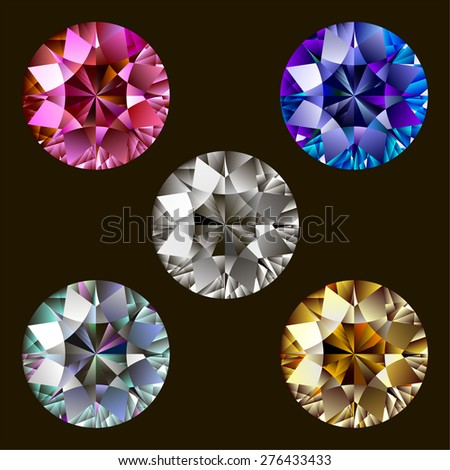Set of gems - stock vector