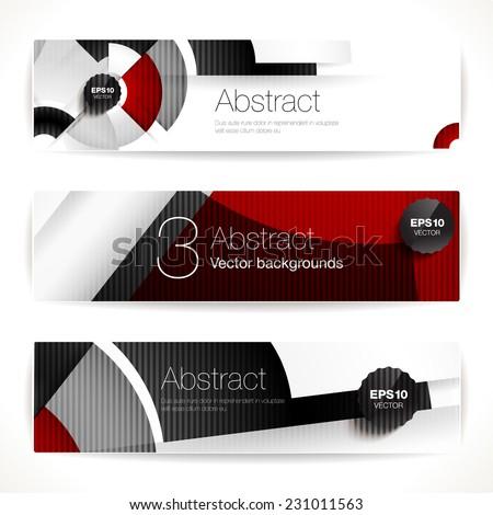 Set of geometric backgrounds for modern design - stock vector