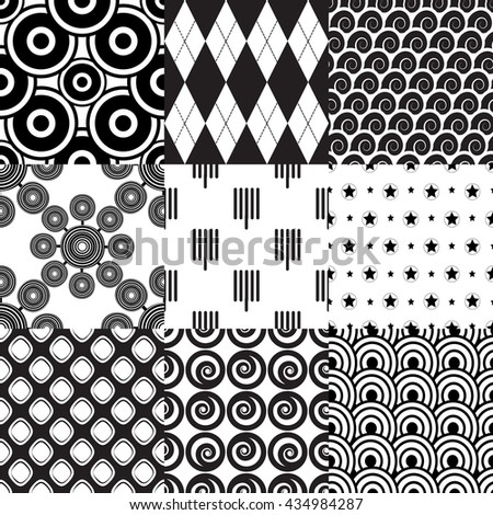Set of geometric pattern part 2. - stock vector
