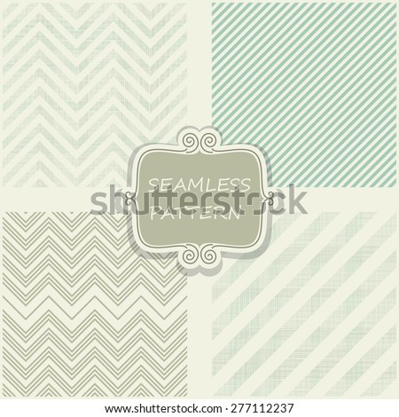 set of 4 geometric seamless patterns  - stock vector