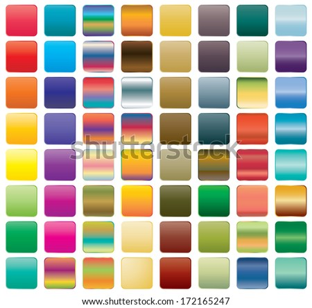 Set of gradient button icons for your design - stock vector